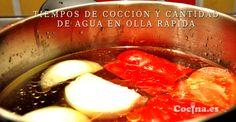 Tiempos de cocción y cantidad de agua en olla rapida. Spanish Food, Creative Food, Diy Food, Caprese Salad, Cooker, Sausage, Healthy Eating, Beef, Treats