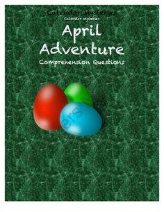 Calendar Mysteries April Adventure from Eliza D's shop on TeachersNotebook.com -  (17 pages)  - Comprehension Questions for Calendar Mysteries April Adventure