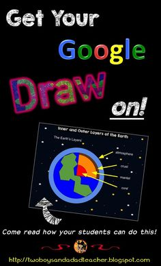 Tired of having your students just insert copyrighted images into their reports and presentations?  Have them create their OWN images in Google Draw!  I just posted a tutorial on how I had my students draw a cutaway of the Earth.  They then inserted this image into an Interactive Digital Notebook we are making on the Solar System.  FREE PDF download of the tutorial on my blog...check it out!