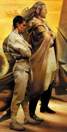Qui-Gon Jinn and Obi-Wan Kenobi -The Jedi Apprentice Series. I loved it when I was growing up.