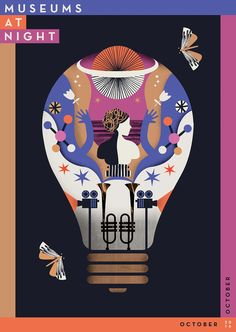 Museums At Night Festival Poster on Behance