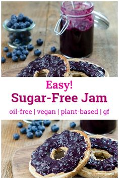 This jam is simple to make, and has no added sugar! Sweetened only with fruits, this jam recipes is healthy and delicious with so much natural flavor. Recipe is whole foods plant-based, vegan, gluten-free, nut-free, and oil-free.  #jam #sugarfree #vegan Jam Recipes, Holiday Recipes, Whole Food Recipes, Cooking Recipes, Vegan Recipes, Sugar Free Frosting, Sugar Free Jam, Plant Based Breakfast, Vegan Cookbook