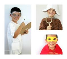 3 Easy Boys' Halloween Costumes: whether you need a mad scientist costume, a detective costume, or even a quick and easy superhero costume, these homemade Halloween costumes will suit your needs! | AllFreeKidsCrafts.com