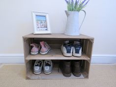 Items similar to Wooden Shoe Rack, Pine Shelves, Boot Holder, Shoe Storage, Rustic and Woodsy; Alternate Dimensions Available on Etsy