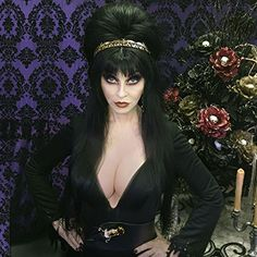 "now Elvira reminds me of ""I Dream of Jeannie"" in her little bottle I didnt put her there Cassandra Peterson, Goth Beauty, Dark Beauty, Beautiful Celebrities, Beautiful Women, Beautiful Witch, Elvira Movies, Vampires, 7 Arts"