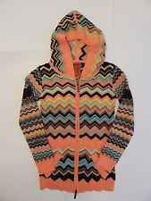 Women's Missoni by Target Colorful Chevron Hoodie Jacket Shirt Top Size Small