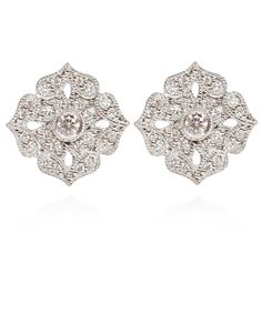 Stone White Gold Diamond Tiny Flower Earrings | Jewellery by Stone  £1665.00  | Liberty.co.uk