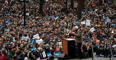When the masses respond like that Bernie really is  showing his support base ! His time has come & the US could do with the basic honesty & humility he displays. How refreshing after the current pack of flagrant liars & cheats !