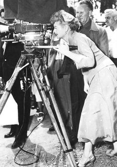 Lucille Ball was the first woman in Hollywood to use multiple cameras at once, live audiences,... and she ran the show.