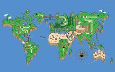 Mapa mundi do Mário Bros: é como se o mundo fosse uma grande brincadeira dos capitalistas da Moda.