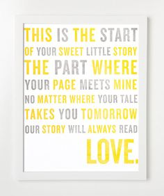 love story letterpress print by sycamore street press Life Quotes Love, Baby Quotes, Quotes To Live By, Me Quotes, Family Quotes, Newborn Quotes, Pregnancy Quotes, All You Need Is Love, Just In Case