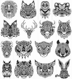 bison illustration cute - Google Search