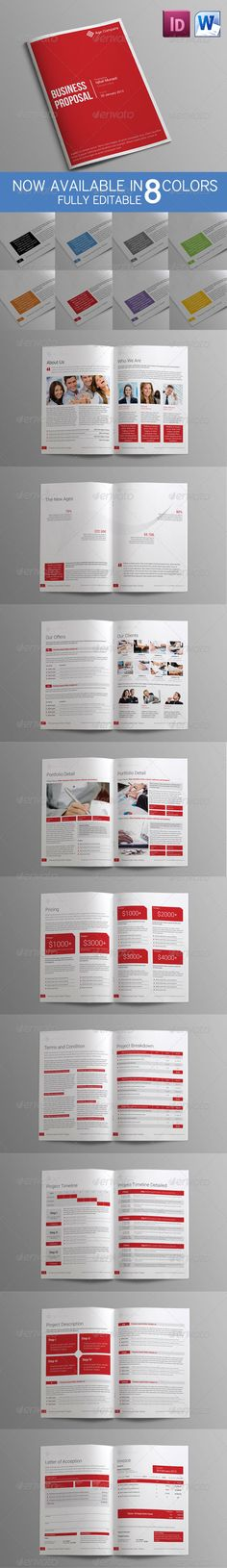 Professional Proposal Template Adobe photoshop, Fonts and Stationery - microsoft word proposal template free download