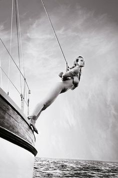 nude bondage on a boat