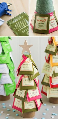 """Awesome DIY Christmas Gift Ideas to Make You Say WOW Make a more lighter, prettier and best of all healthier """"Candy Topiaries"""" with tea bags.Make a more lighter, prettier and best of all healthier """"Candy Topiaries"""" with tea bags. Neighbor Christmas Gifts, Diy Holiday Gifts, Christmas Gifts For Boyfriend, Homemade Christmas Gifts, Great Christmas Gifts, Homemade Gifts, Christmas Crafts, Christmas Decorations, Christmas Tree"""