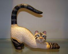Large Rare Siamese Cat Figurine by Tyber Katz United Design No. 49 of 2500