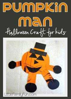 Halloween craft for kids and preschoolers.
