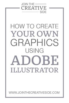 How to design your own Graphics using Adobe Illustrator In my step-by-step eBook,Brand your Blog, I share my best Graphic Design branding skills, so you will learn the techniques (that I learned so fa