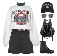 """""""YXN"""" by mikaylaperrine ❤ liked on Polyvore featuring New Look, Emotionally Unavailable, MM6 Maison Margiela and Ray-Ban"""