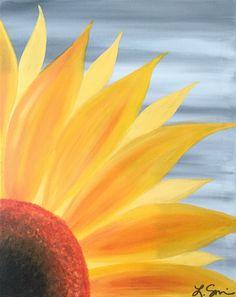 Painting Ideas On Canvas Art Mobiles Ideas Sunflower Canvas Paintings, Fall Canvas Painting, Summer Painting, Autumn Painting, Autumn Art, Diy Painting, Canvas Crafts, Diy Canvas, Canvas Art