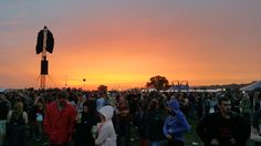 Sunset at Reading Festival