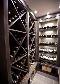 Wine Cellar wine closet Design Ideas, Pictures, Remodel and Decor Basement Bar Plans, Basement Bar Designs, Basement Renovations, Basement Ideas, Basement Stairs, Cool Wine Racks, Wine Cellar Basement, Wine Cellar Design, Wine Display