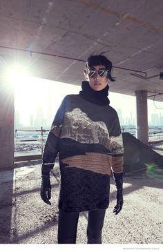 bergdorf #goodman shoot18 775x1200 Tao #Okamoto Wears Sleek & Modern #Style for Bergdorf Goodman's Fall Catalogue