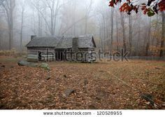 Stock Photo - An old log cabin in the woods, with a morning mist hanging in the crisp fall air Amazon Affiliate Marketing, Affiliate Websites, Best Cigar Humidor, Buy Beer, Carpentry Projects, Mountain Park, Good Cigars, Building A Shed, Seo Tips