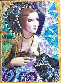 Love Anne Bagby's work! This is an ATC I did in Anne's style; not sure how it got on her site!
