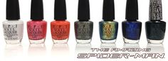 Spiderman nail colors by OPI, Summer 2012
