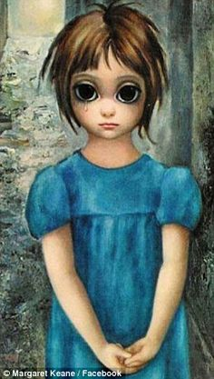 One of the 'Big Eyes' paintings Walter Keane passed off as his own - it was actually painted by his wife, Margaret