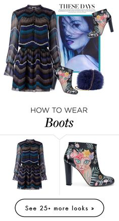"""Print Boots"" by batik-girl on Polyvore featuring Diane Von Furstenberg and Camilla Elphick"