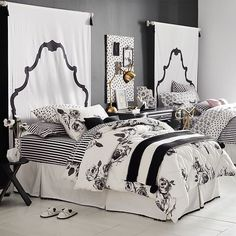 Shop Pottery Barn Teen's Emily & Meritt Parisian Bed Of Roses Teen Bedroom for teen girl room ideas. Transform your space to express your individual style with our teen room inspiration and ideas. Teen Girl Bedrooms, Teen Bedroom, Home Decor Bedroom, Comfy Bedroom, Bedroom Ideas, Master Bedroom, Faux Headboard, Tapestry Headboard, Headboard Ideas