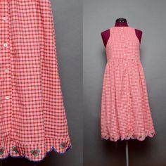 60's Dress Summer Dress 1960s Sleeveless Tank Top by HankAndGeorge