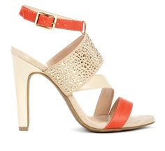 Stunning heels! Total goddess in gold and tangerine