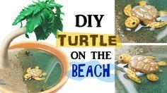 DIY MINIATURE SEA TURTLE ENVIRONMENT Resin & Polymer Clay Tutorial