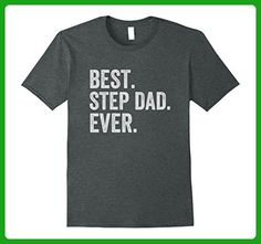 Mens Best Step Dad Ever T-Shirt Large Dark Heather - Relatives and family shirts (*Amazon Partner-Link)
