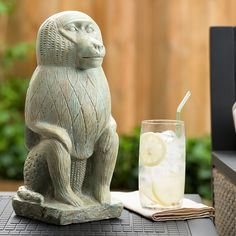 Bombay® Outdoors Nubian Baboon Garden Statue ($49) ❤ liked on Polyvore featuring home, outdoors, outdoor decor, green, outdoor yard decor, garden statues, garden statuary, outdoor statuary and outdoor statues