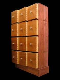 Stan Pike Designs, featuring the craftsmanship of Stan Pike, designer and maker of very special wood furniture, specializing in apothecary cabinets and other unique creations. Comic Book Storage, Record Shelf, Book Cabinet, Man Crafts, Apothecary Cabinet, Storage Solutions, Storage Ideas, Wood Furniture, Game Room