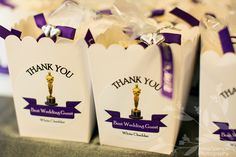 Movie themed wedding - Popcorn favors