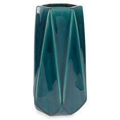 Keramikvase blau H 29 cm ZAG