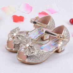 d0abda68af9 Children Princess Sandals Kids Girls Wedding Shoes High Heels Dress Shoes  Party Shoes For Girls Pink