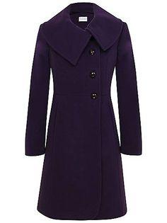 1cbfb74eaa7e Kaliko Asymetric collar coat Purple - House of Fraser