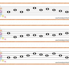 Music Flash cards for directional reading.