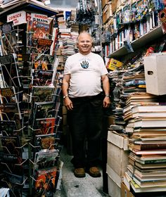 Gary Edson Arlington Proprieter of first comic book store in San Francisco. Jack Kirby, Comic Book Guy, Comic Books, Book Design Templates, Comic Book Companies, Typography Magazine, San Francisco, Book Page Art, Book Wallpaper