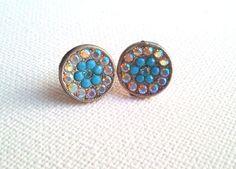 Stud Earrings Swarovski Crystal Small Round by AquamarineJewelry, $25.00