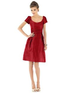 This is the bridesmaids dress I am considering. Thoughts? This is in Garnet.