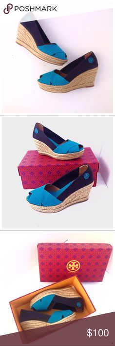 dd2686afaa1 Tory Burch Filipa Colorblock Canvas Wedge Sandal Gorgeous Tory Burch Filipa  Colorblock Espadrille Wedge Sandal