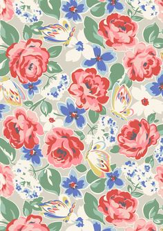 Padstow Rose | Delicate butterflies and vibrant blooms make a perfect summer floral | Cath Kidston S16 |