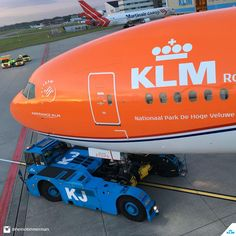 "KLM Boeing 777-306/ER PH-BVA ""Nationaal Park De Hoge Veluwe / De Hoge Veluwe National Park"" rolling out of Hangar 14 with a brand new #OrangePride livery at Amsterdam-Schiphol, 17th June 2016. (Photo: Heino Timmerman / KLM)"